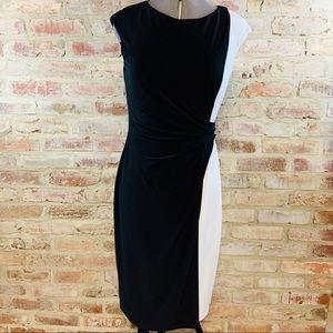 Ralph Lauren black white dress size 6